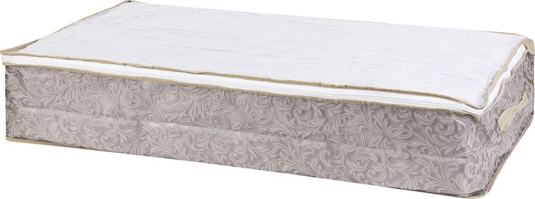 Кофр для хранения вещей EL Casa,, цвет: серо-коричневый, 80 х 45 х 15 см. 371150371150Кофр складной для хранения идеально подходит для эргономичного хранения вещей — одеял, пледов, подушек и других объемных вещей. Кофр выполнен из высококачественного материала с прозрачной крышкой и молнией. В сложенном виде кофр совсем не занимает места, он очень компактно упакован. В рабочем состоянии размеры кофра 80*45*15 см, по боковым стенкам удобные ручки. В коллекции складных кофров множество расцветок от однотонных до ярких и цветочных. Кофры представлены в разных формах и размерах — кофры прямоугольные, кофры для хранения одеял, кофры подвесные, кофры для белья с ячейками, органайзеры для мелочей и кофры для обуви с разделителями — все это поможет вам упаковать вещи на летний или зимний сезон, собраться к переезду на дачу и просто эргономично организовать хранения вещей.
