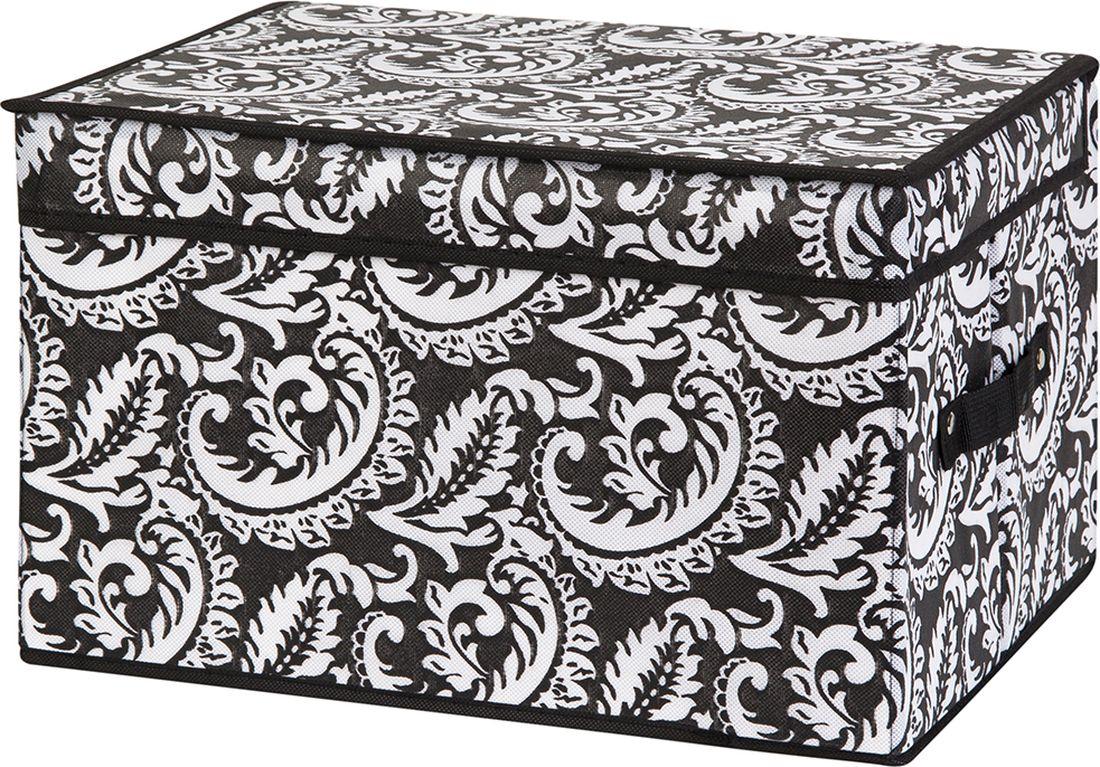Кофр для хранения вещей EL Casa, складной, цвет: черный, 40 х 30 х 25 см. 371158 кофр для хранения вещей el casa сияние лета складной 40 х 30 х 25 см