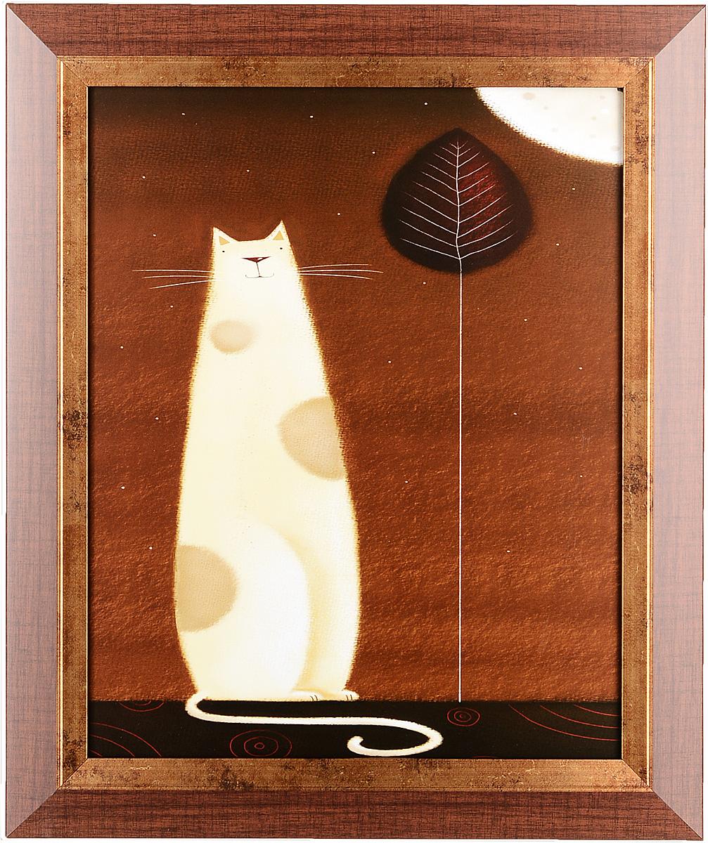Постер Белый кот, 24 х 30 см арт постер в багете на полустанке в г казанцев 27 см x 40 см