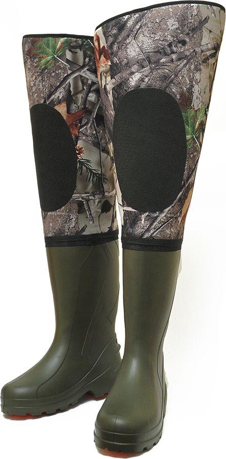 Сапоги для рыбалки мужские Nordman Neo Plus, цвет: осенний лес. pe_22_tep_rne_s_fut-563-41/42. Размер 41/42
