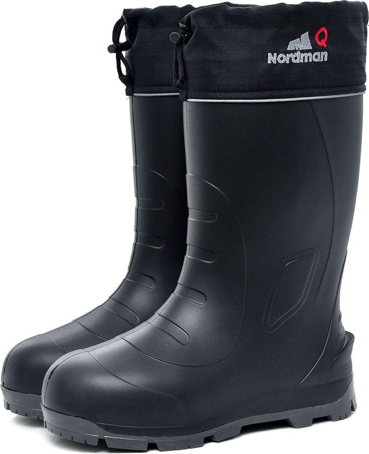 Сапоги для рыбалки мужские Nordman Quaddro, цвет: черный, серый. 519090_01-249-42. Размер 42