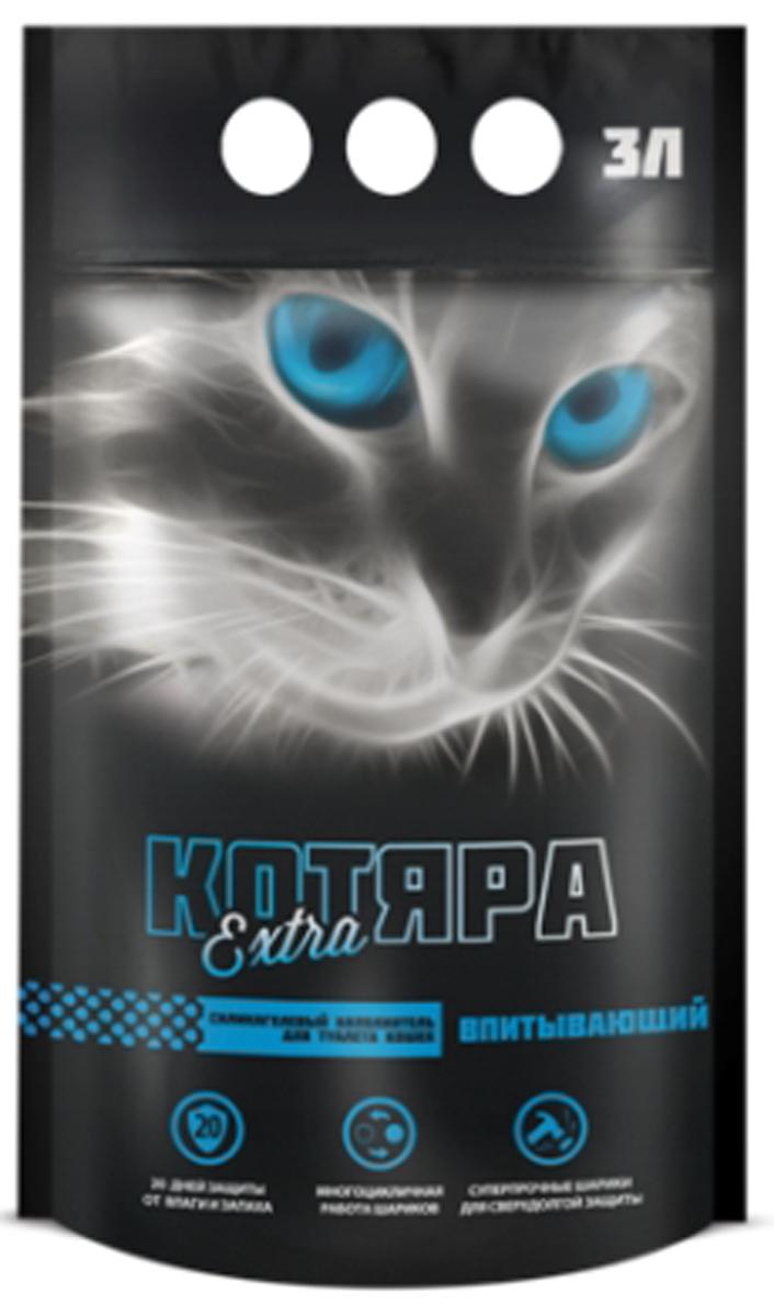 цена на Наполнитель для кошачьего туалета Котяра Extra, силикагелевый, 3 л