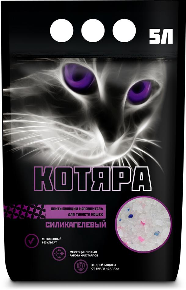 цена на Наполнитель для кошачьего туалета Котяра, силикагелевый, 5 л