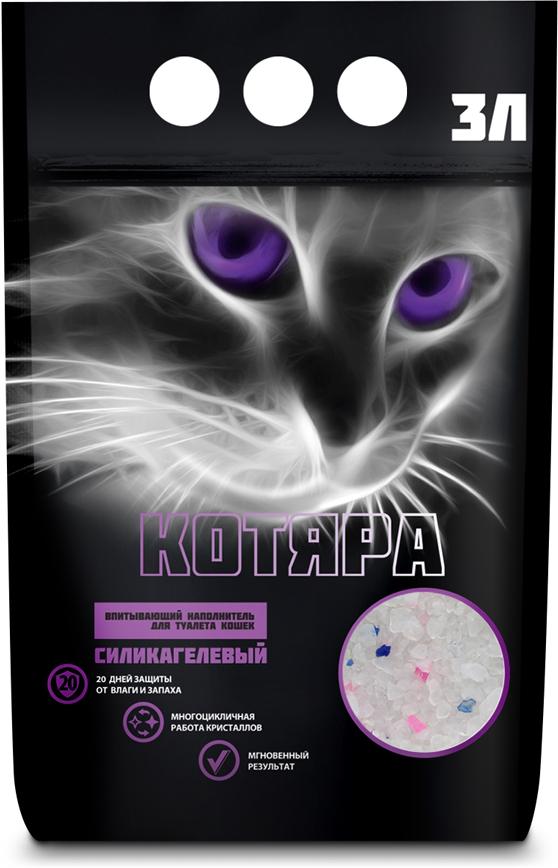 цена на Наполнитель для кошачьего туалета Котяра, силикагелевый, 3 л