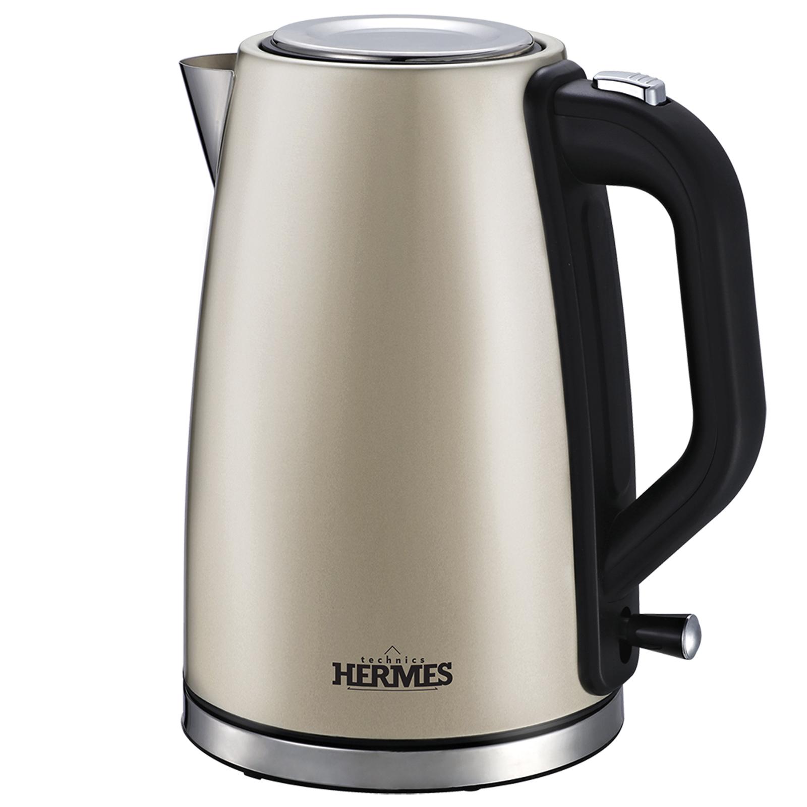 Электрический чайник Hermes Technics HT-EK704, EK16159, золотой электрический чайник hermes technics ht ek704 ek16159 золотой