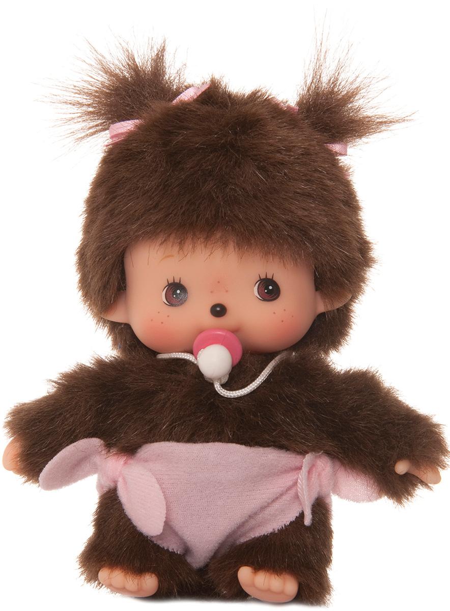 Мягкая игрушка Monchhichi Bebichhichi Девочка в подгузнике, 15 см кукла monchhichi 15 25cm
