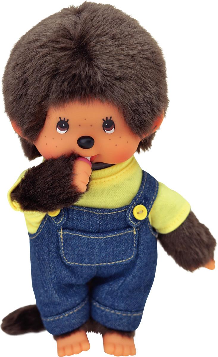 """Мягкая игрушка Monchhichi """"Мальчик в комбинезоне и желтой футболке"""", 20 см"""