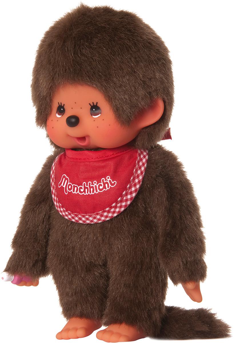 """Мягкая игрушка Monchhichi """"Мальчик в красном слюнявчике"""", 20 см"""