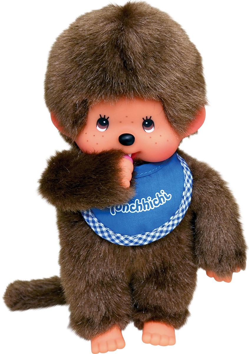 """Мягкая игрушка Monchhichi """"Мальчик в синем слюнявчике"""", 20 см"""