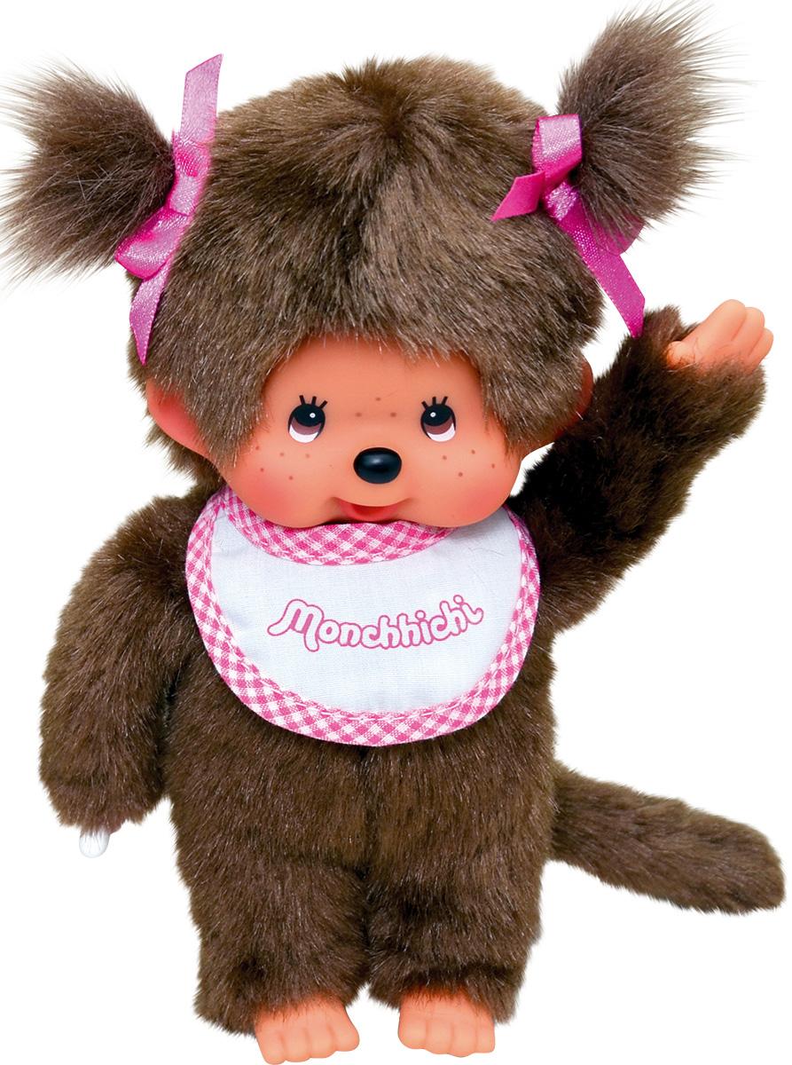 "Мягкая игрушка Monchhichi ""Девочка в слюнявчике"", 20 см"