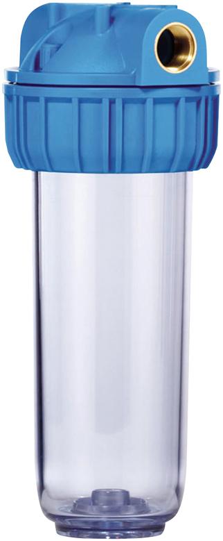 Колба магистрального фильтра Fibos, пластиковая, ХВС, 1 м3/ч корпус для стационарного магистрального фильтра гейзер 3и 20вв ба без картриджа