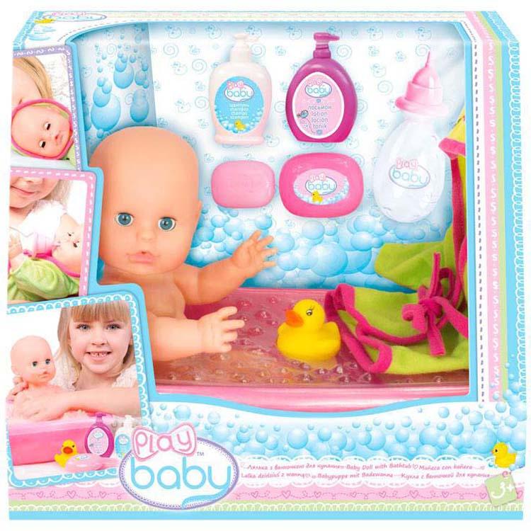 """Игровой набор с куклой Play Baby """"Набор для купания"""", 32003"""