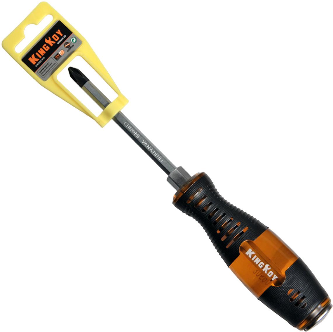 купить Отвертка крестовая King Roy, ударная, с шестигранником под гаечный ключ, 4 х 100 мм онлайн