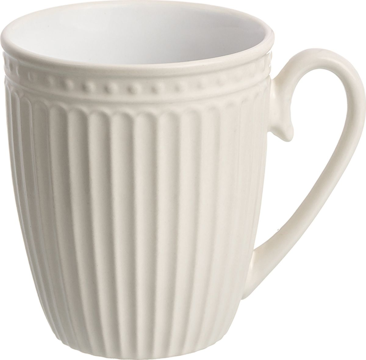 Кружка Elan Gallery Топленое молоко, ребристая, 330 мл кружка elan gallery пастель 330 мл топленое молоко