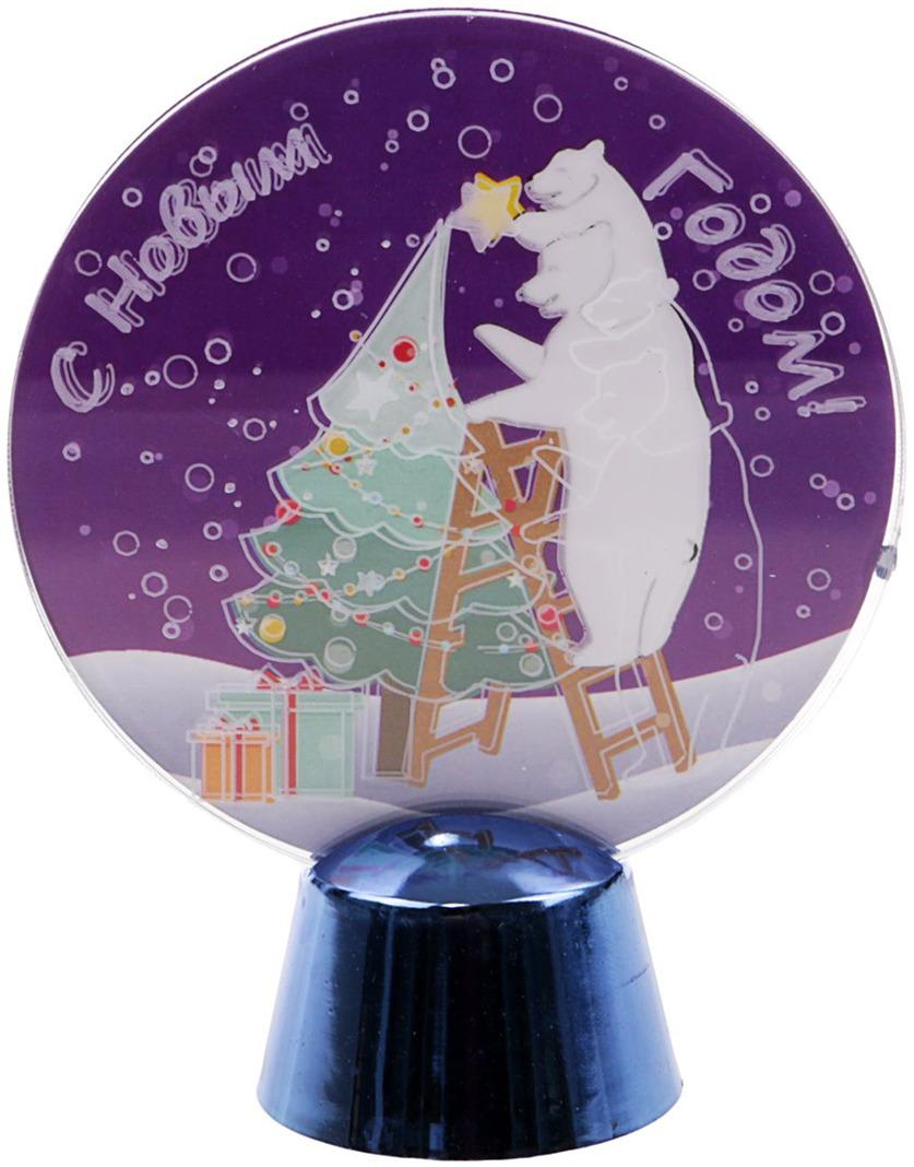 цена на Подставка с динамикой Luazon Lighting Семья медведей, цвет: белый, 2 LED, 11,5 см