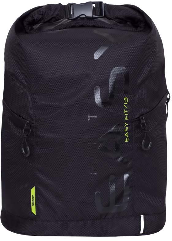 Рюкзак молодежный Grizzly, цвет: черный, салатовый, 13 л. RQ-918-1 рюкзак grizzly rq 912 1 1 black