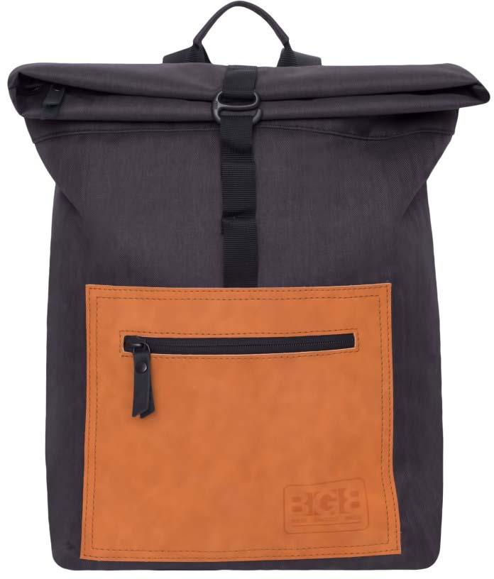 Рюкзак молодежный Grizzly, цвет: черный, кирпичный, 10 л. RQ-913-1 рюкзак grizzly rq 912 1 1 black