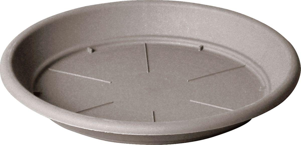 Поддон для цветочного горшка Teraplast Санремо, цвет: капучино, диаметр 22 см поддон для цветочного горшка deroma самба цвет зеленый диаметр 24 см