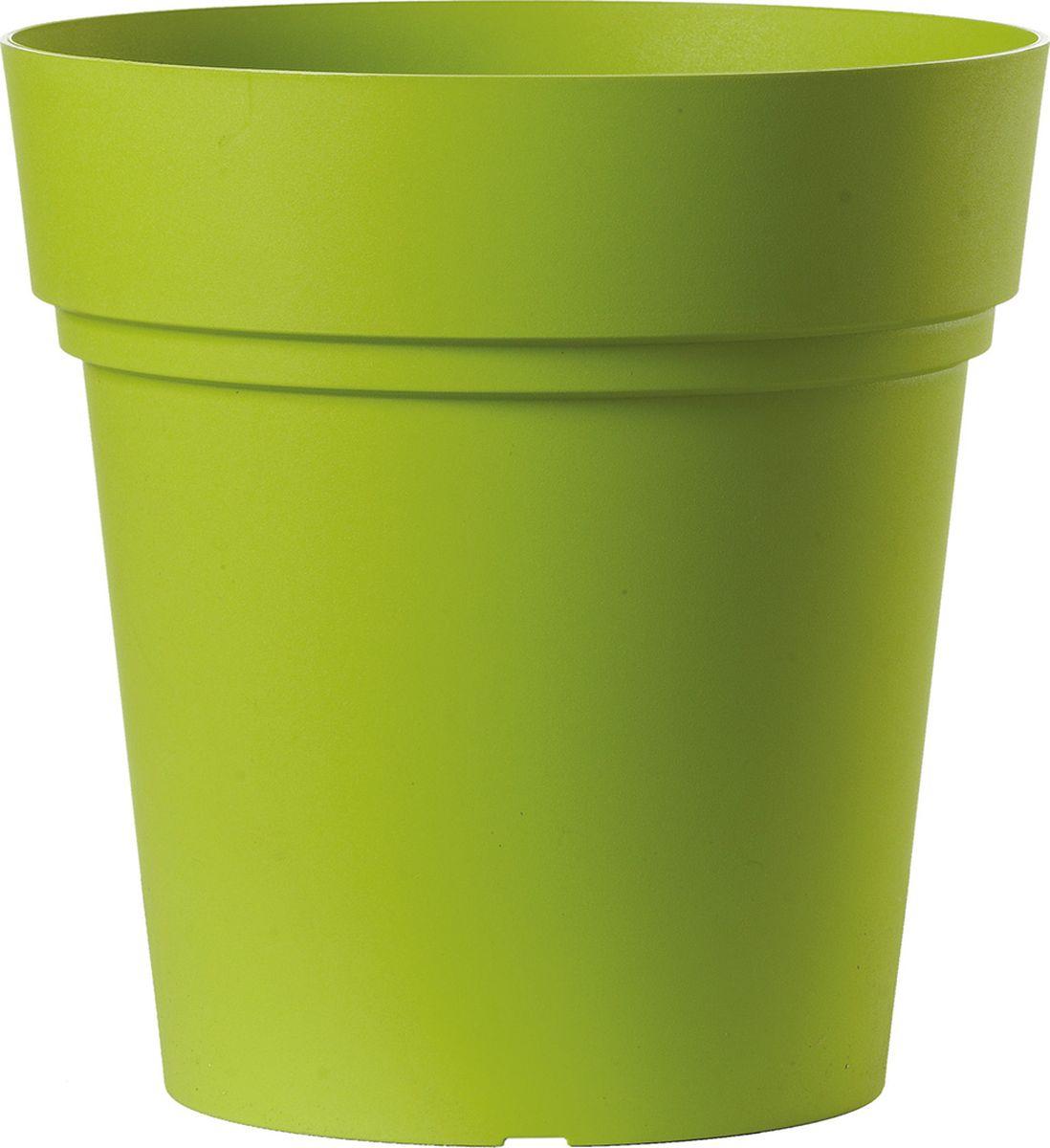 Горшок для цветов Deroma Самба, цвет: зеленый, диаметр 30 см поддон для цветочного горшка deroma самба цвет зеленый диаметр 24 см