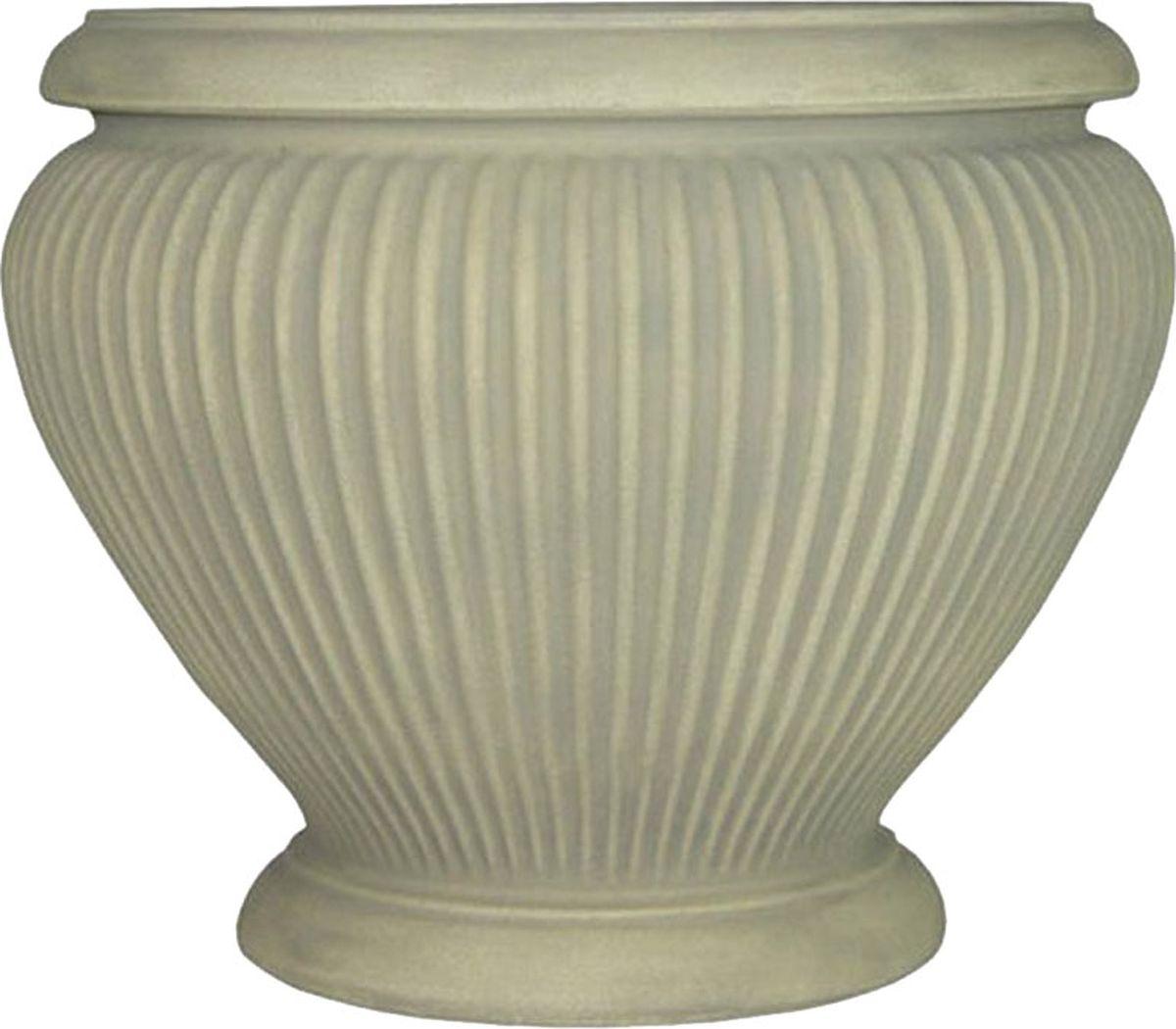 Вазон для цветов Dominican Garden Эсте, цвет: светло-серый, диаметр 45,7 см