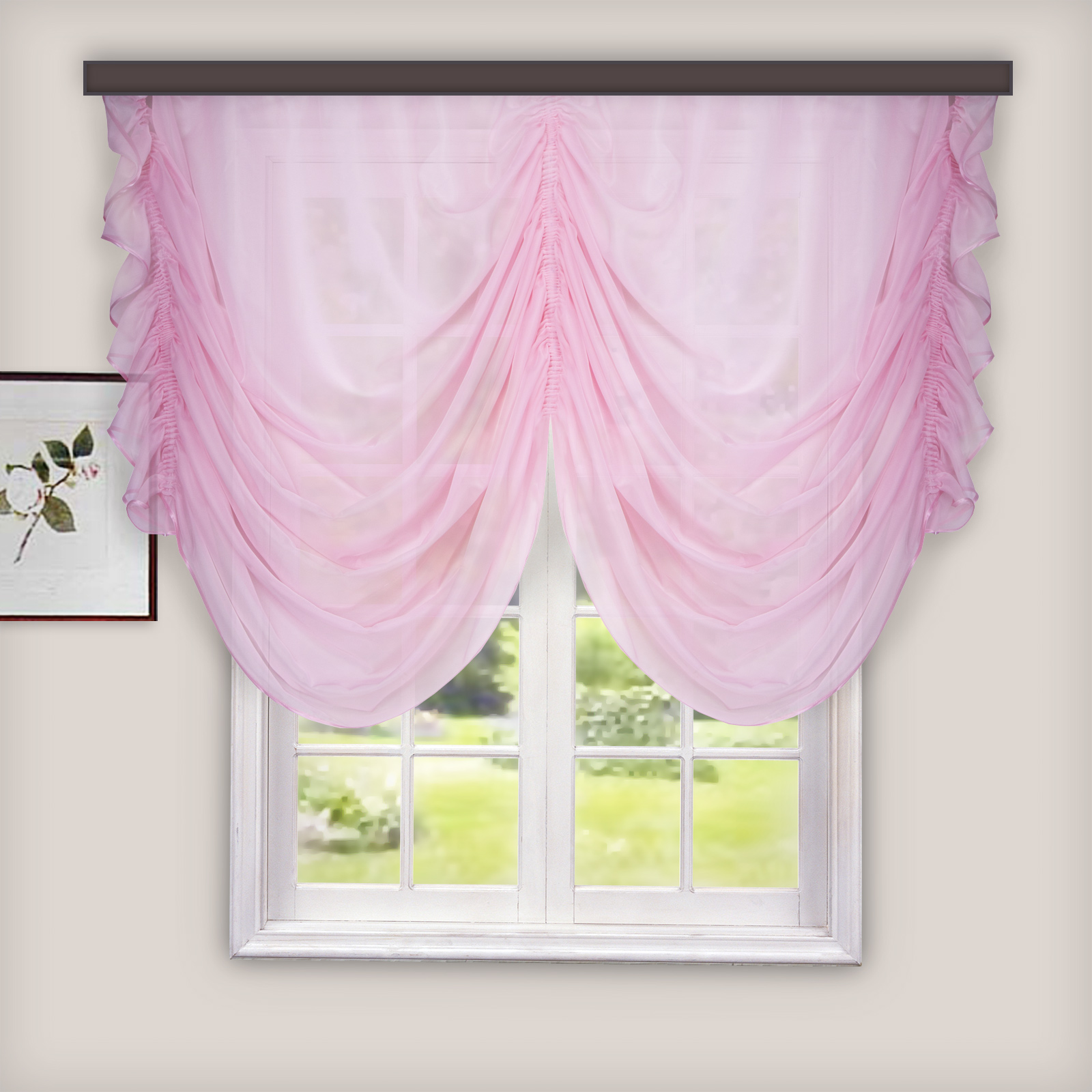 Комплект штор для кухни Witerra Классика, 280 х 250, цвет: светло розовый шторы для кухни фото дизайн 2017 года новинки