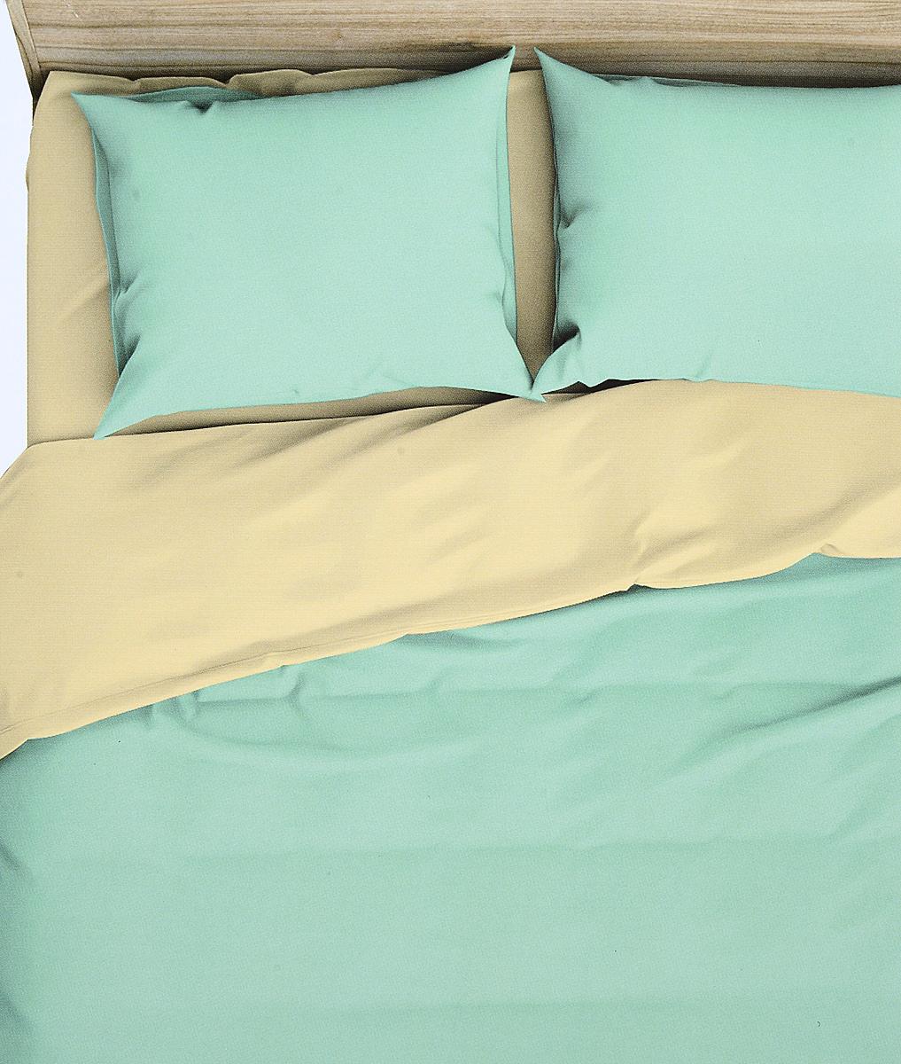 цена на Комплект белья Василиса Мохито, 2-спальный, наволочки 70x70, цвет: зеленый. 368/1