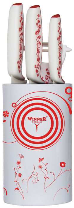 все цены на Набор керамических ножей Winner WR-7346, 5 предметов онлайн