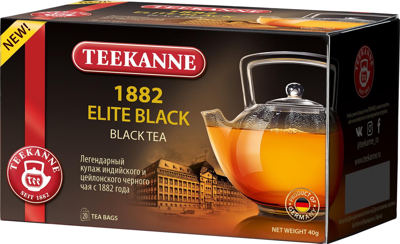 Чай черный Teekanne 1882 Elite Black в пакетиках, 20 шт чай листовой teekanne legend 1882 черный 150 г