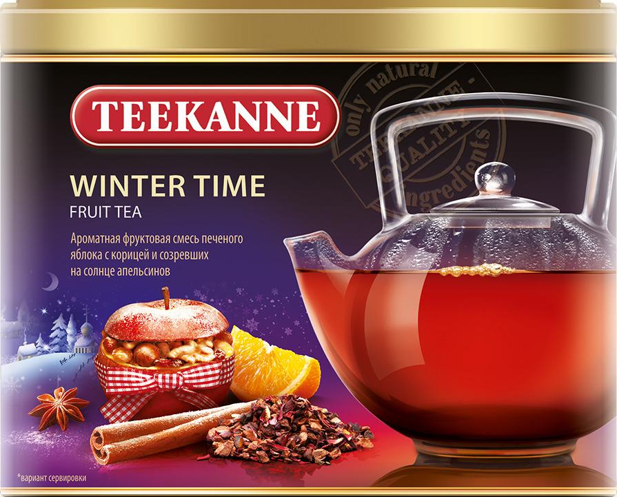 Чай листовой Teekanne Winter Time фруктовый, 150 г чай листовой teekanne legend 1882 черный 150 г