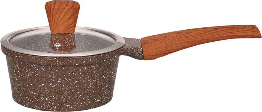 Ковш Winner Marble Luxury, с мраморным покрытием, 1,2 л. WR-1490WR-14901,2л/16см, толщина стенки 2мм, дна 4,5мм. Внутри антипригарное мраморное цветное покрытие, снаружи жаростойкое мраморное цветное покрытие. Ручки бакелитовые с покрытием Soft Touch под дерево. Крышка стеклянная. Подходит для всех видов плит, в т.ч. индукционной. Состав: литой алюминий.