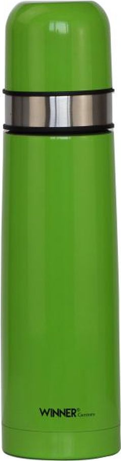 Термос Winner, 0,75 л. WR-8222WR-8222Термос д/горячих и холодных напитков 0,75л., двойные стенки, пробка винтовая с кнопкой, цветное матовое покрытие корпуса. Рекомендована ручная чистка. Состав: нержавеющая сталь