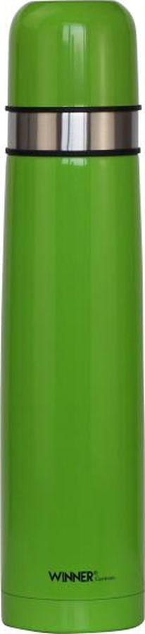 Термос Winner, 1 л. WR-8226WR-8226Термос д/горячих и холодных напитков 1,0л., двойные стенки, пробка винтовая с кнопкой, цветное матовое покрытие корпуса. Рекомендована ручная чистка. Состав: нержавеющая сталь
