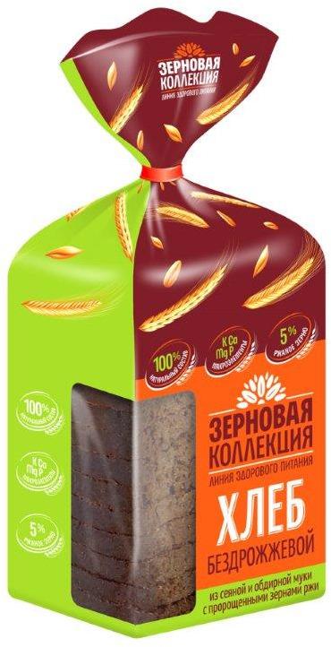 Хлеб зерновой Волжский пекарь, бездрожжевой, 250 г