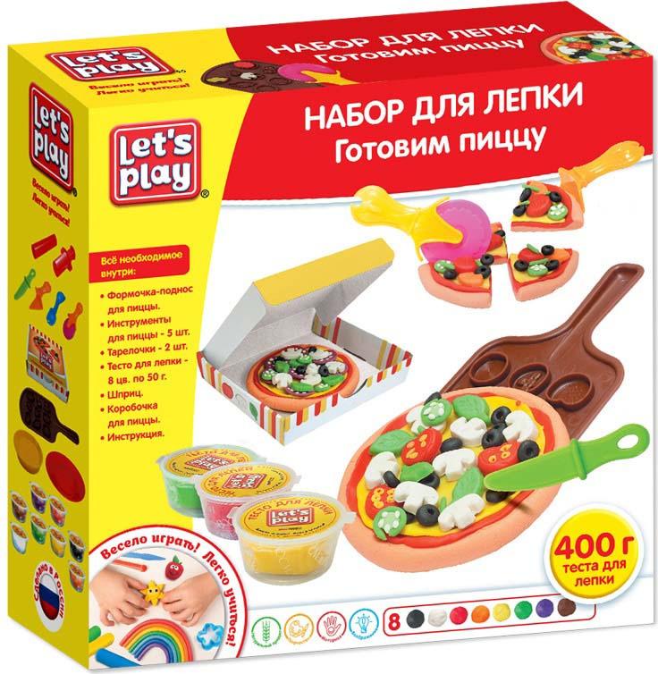 Набор для лепки Let's Play Готовим пиццу набор для лепки genio kids готовим пиццу