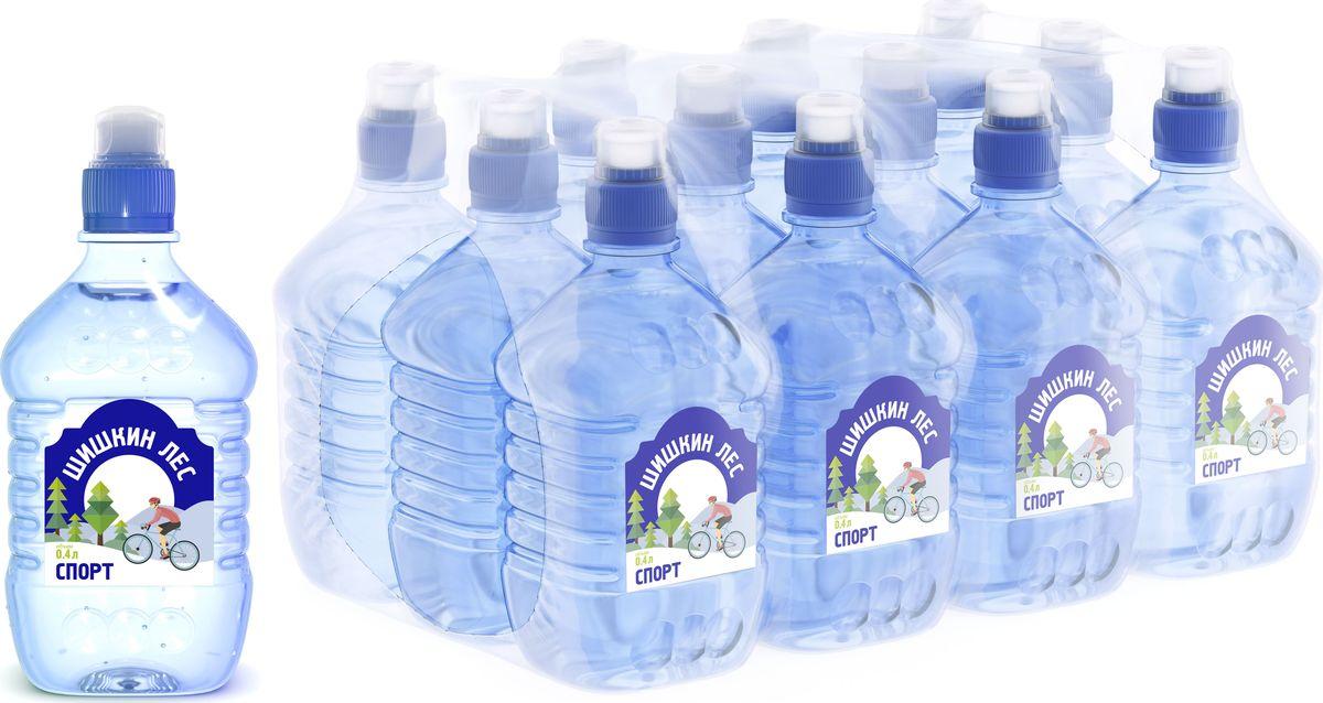 Вода Шишкин лес питьевая Sport, 12 шт по 0,4 л