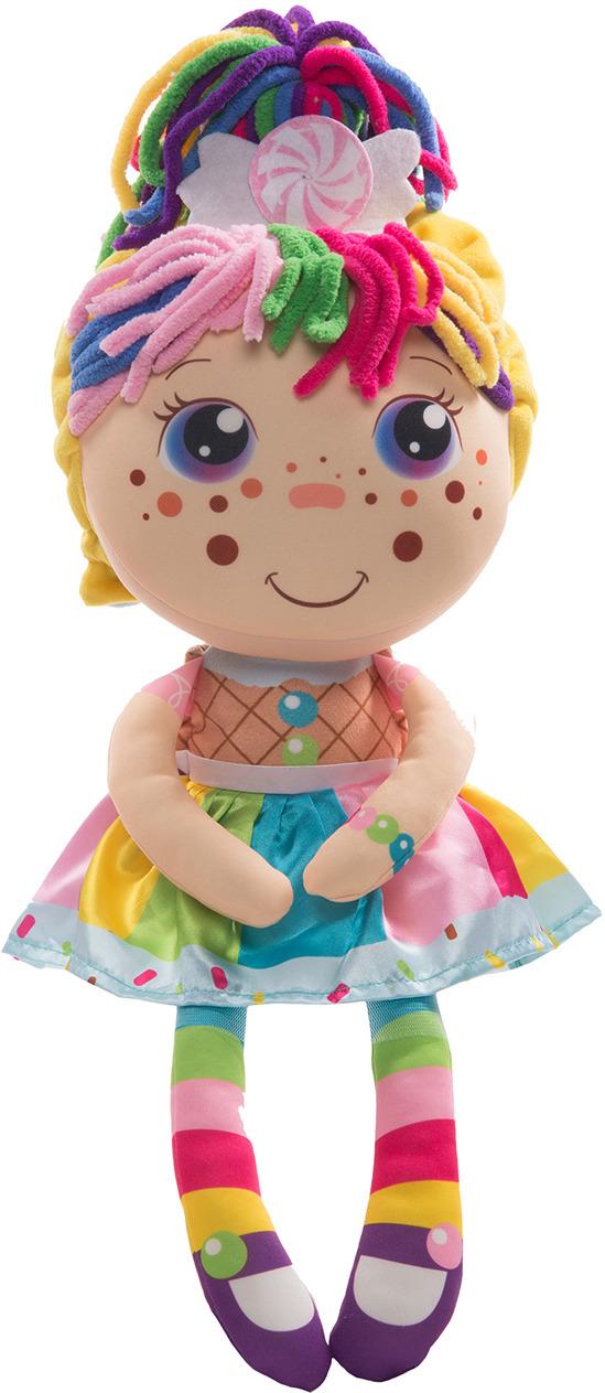 """Кукла плюшевая 1TOY """"Девчушка-вывернушка Настюшка 2в1"""""""