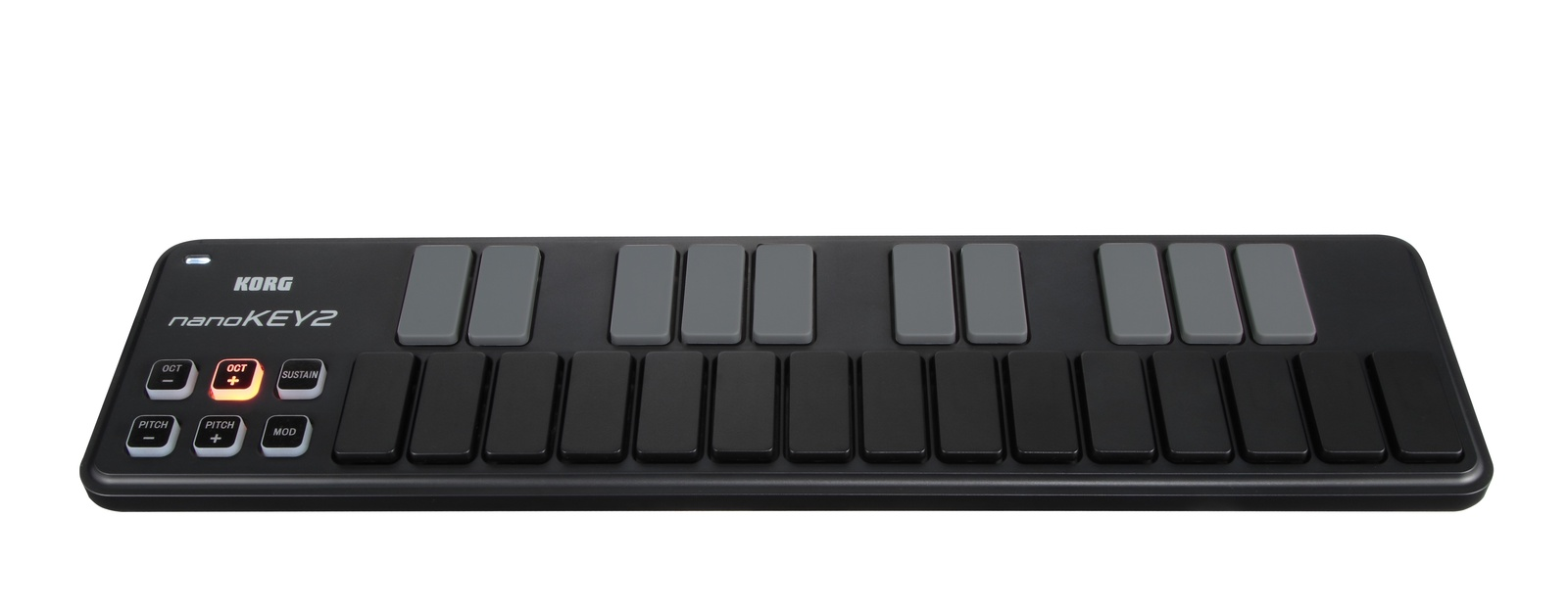 Портативная USB-MIDI-клавиатура KORG, цвет: черный, NANOKEY2-BK цены