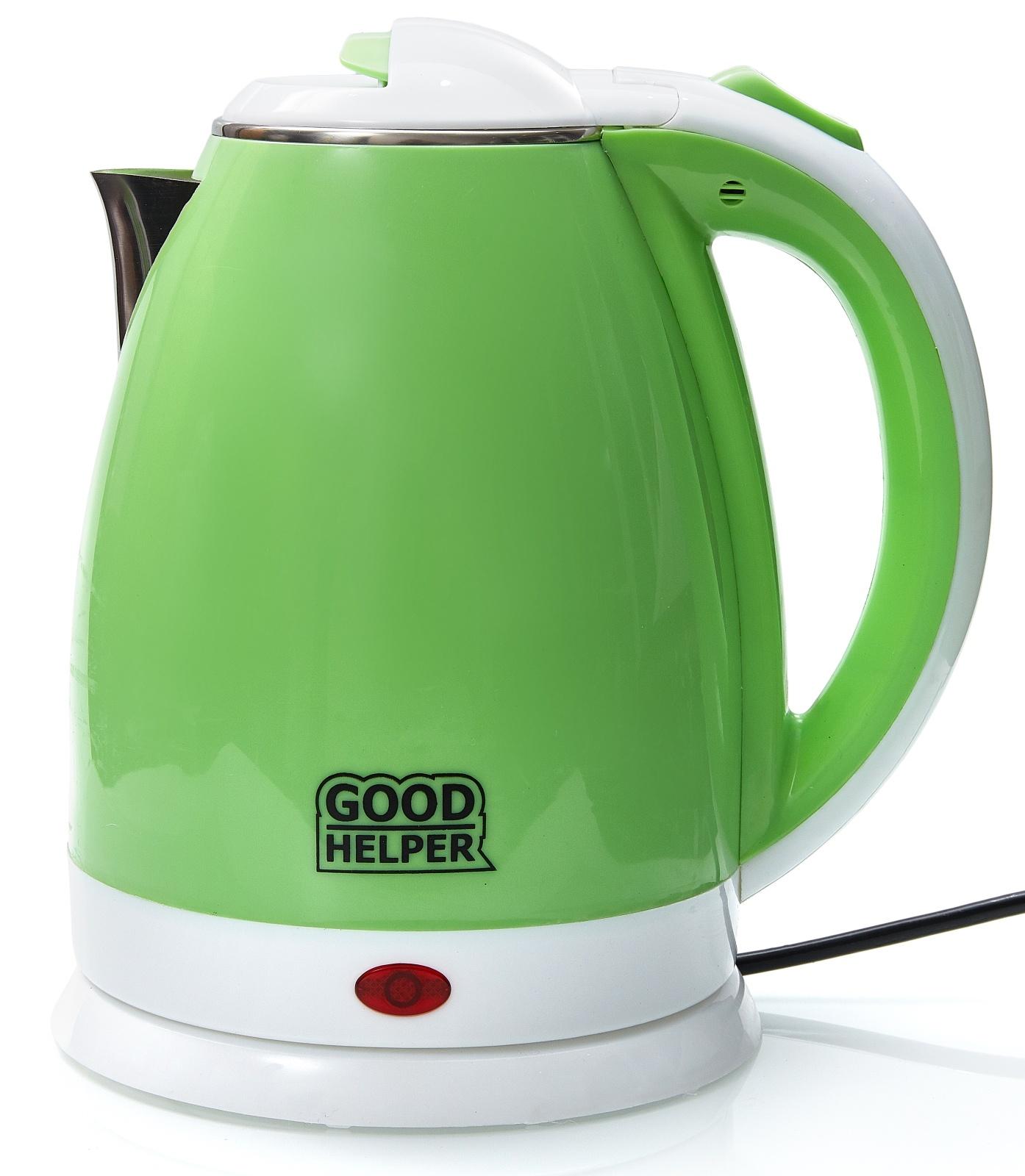 Электрический чайник GOODHELPER Чайник электрический GOODHELPER KPS-180C зеленый, KPS-180C зеленый goodhelper kps 180c зеленый
