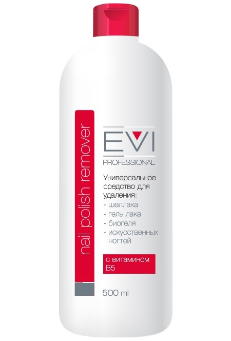 Универсальное средство EVI professional для снятия всех видов лака 500 мл. 005-012
