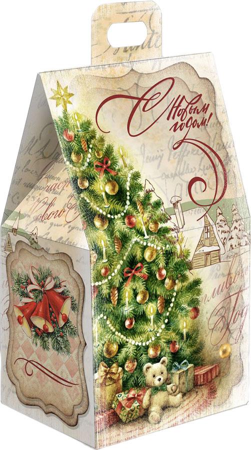 Сладкий новогодний подарок Домик ретро бежевый, 200 г сладкий новогодний подарок детский сувенир классный подарок 269 г