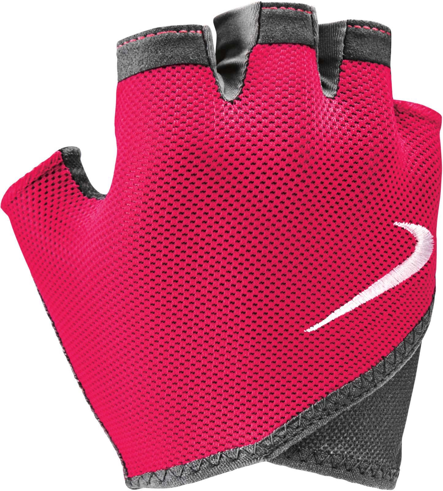 Перчатки для фитнеса Nike, цвет: серый, черный, белый. N.LG.D4.017.MD цена