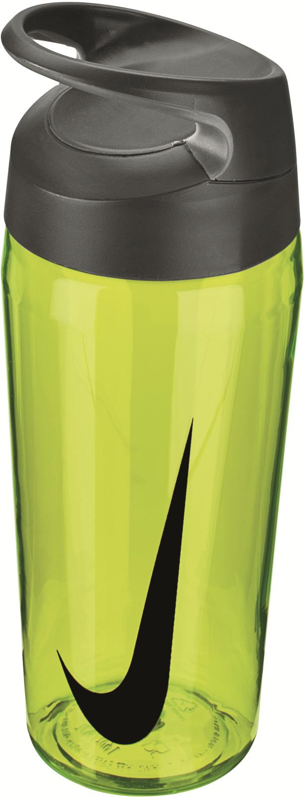 Бутылка для воды Nike TR Hypercharge Twist, цвет: желтый, серый, черный, 473 мл