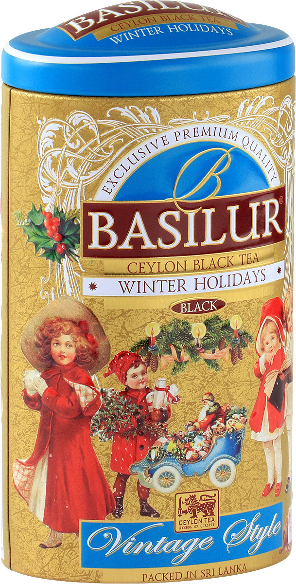 Черный листовой чай Basilur Vintage Winter Holiday, 100 г basilur frosty afternoon черный листовой чай 100 г жестяная банка