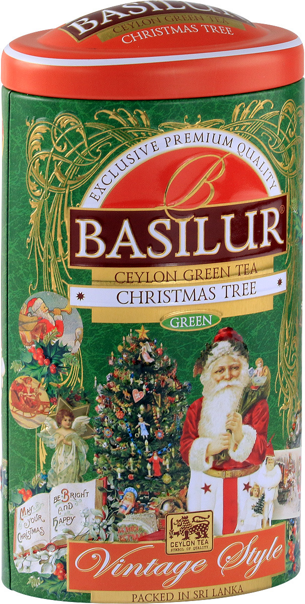 Зеленый листовой чай Basilur Vintage Christmas Tree, 100 г pzcd my 08 usb powered multi color slow twinkle romantic led desktop crystal christmas tree