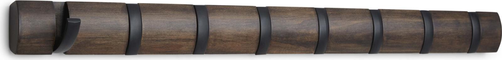 Вешалка настенная Umbra Flip, горизонтальная, цвет: коричневый, 6,7 х 81,3 х 3,2 см (3141)