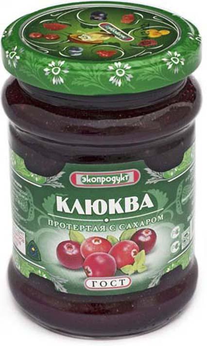 Клюква Экопродукт, с сахаром, 320 г стоимость