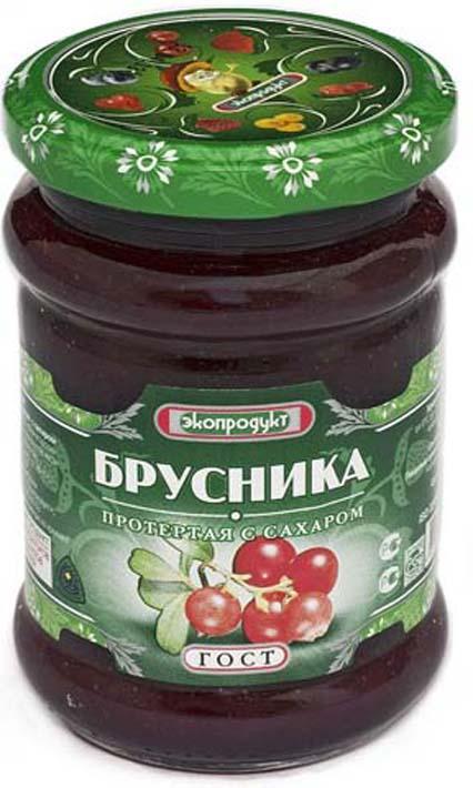 Брусника Экопродукт, с сахаром, 320 г стоимость