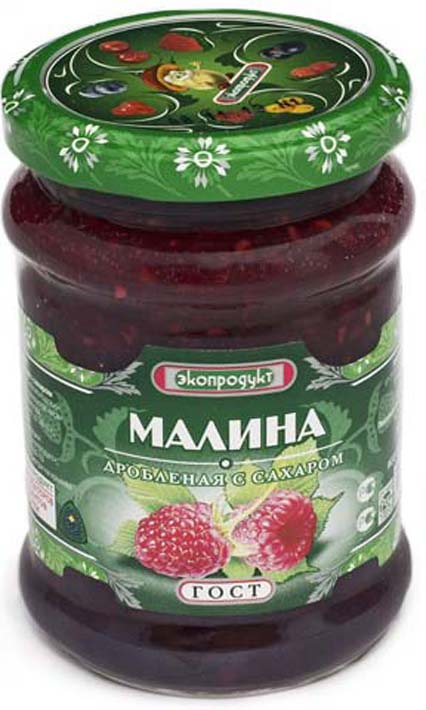 Малина Экопродукт, с сахаром, 320 г стоимость