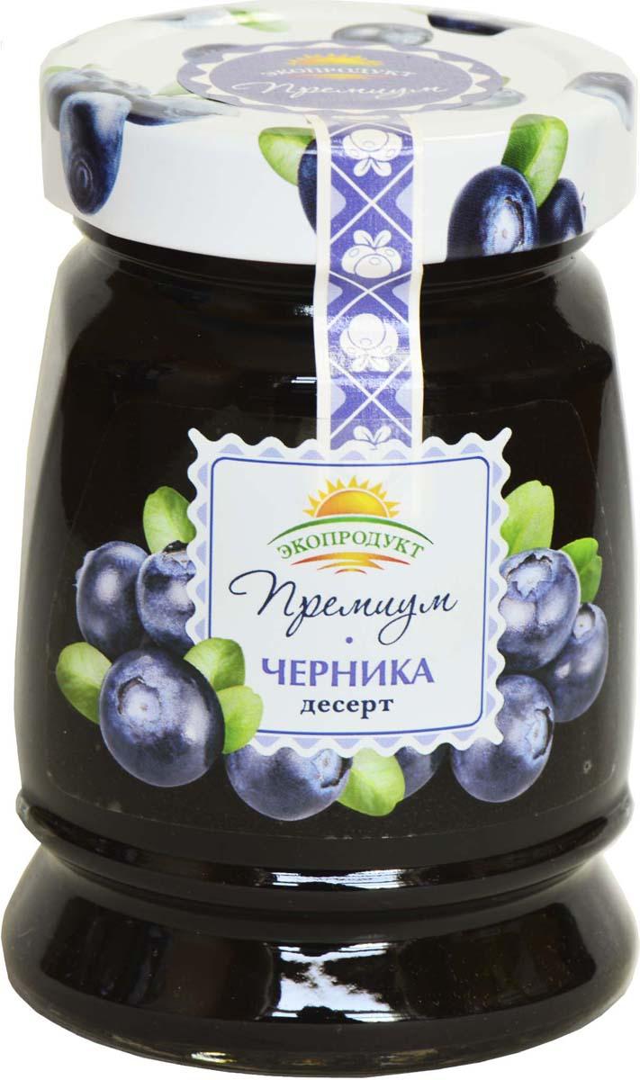 Десерт Экопродукт Премиум. Черника, 330 г черника экопродукт с сахаром 320 г