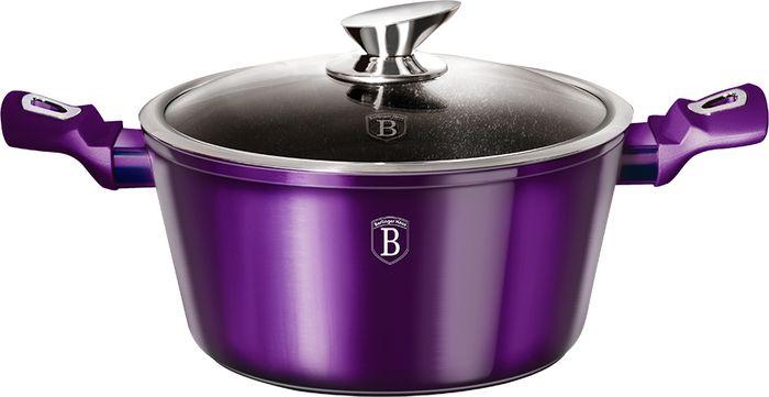 Кастрюля Berlinger Haus Royal Purple Line с крышкой, с антипригарным покрытием, 4,1 л